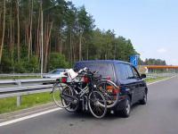 Szeryfowie drogowi z Olesna w drodze nad morze
