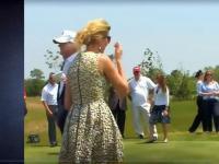 Ivanka Trump gra w golfa w szpilkach i sukience