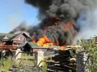 Pożar tartaku i domu ogień strawił dosłownie wszystko