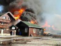 Pożar tartaku w Szybowicach. Spłonął też dom rodzinny. Opolskie