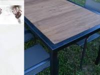 Reinkarnacja stodoły - stół do ogrodu