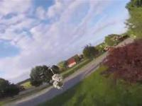 Mały dron w akcji