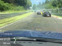 Plama oleju na torze Nürburgring spowodowała wypadek kilku aut