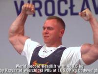 Krzysztof Wierzbicki pobija rekord świata w martwym ciągu! (388, 408.5, 420 kg)
