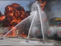 Test chińskiego robota gaśniczego odpornego na eksplozje