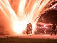 1000 rakiet odpalonych z roweru