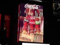 Trójwymiarowy robotyczny billboard Coca-Coli na Times Square