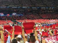 Polska - Serbia - Hymn Polski odśpiewany przez 65 tysięcy widzów