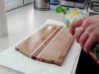 Jak naprawić deske kuchenną. Odnowa starej deski za grosze.