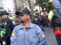 Policja rozprawia się z agresywnym członkiem antify