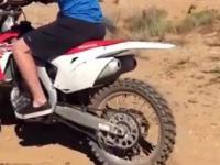 Pierwszy raz na mocnym motocyklu