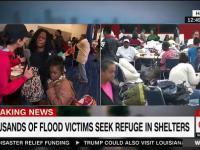 Załamana ofiara huraganu Harvey wreszcie trafia do schroniska