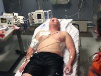 Użycie defibrylatora na półprzytomnym pacjencie [ENG]