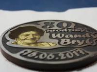 Grawerowanie Laserowe pamiątkowy medal