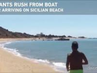 Tymczasem na plażach Sycylii