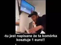 Imigrant usiłuje kupić IPhone'a za 1 euro
