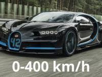 Bugatti Chiron od zera do 400 km/h w rekordowym tempie