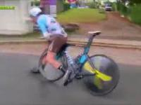 Horrible accident in Tour De Moselle - speed bump