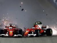 Vettel, Verstappen, Raikkonen Dramatyczny start, 2017 Singapur.