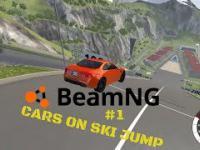 Samochody na skoczni narciarskiej w realistycznym symulatorze zderzeń