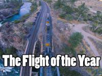 Dron i pociąg