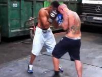 Nielegalna walka bokserska w Barcelonie