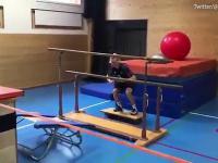 Trening narciarza olimpijskiego