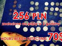 256 złotych znalezione na plaży w 2 godziny ! To wszystko ludzie gubią na plaży !