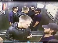 Bijatyka w windzie - Trzech na jednego