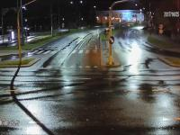 Wandal wyrwał znak drogowy w Olsztynie
