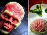 Carving - czyli rzeźbienie w owocach i warzywach