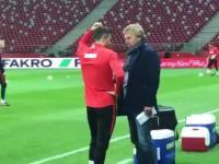 Piękne zachowanie Lewego na treningu przed meczem z Czarnogórą