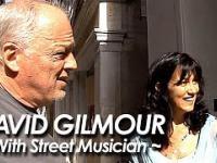 Uliczny muzyk zagrał z legendą Pink Floyd