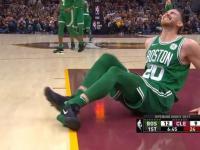 W meczu otwarcia sezonu 2017/2018 ligi NBA zawodnik złamał nogę