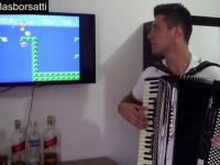 Muzyka z Super Mario Bros grana na... akordeonie