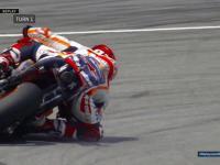 Ekstremalne schodzenie na kolano, tak Marc Marquez ratuje się przed upadkiem