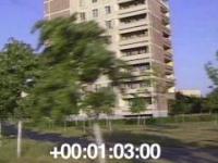 Przejazd ulicami Prypeci miesiąc po katastrofie w Czarnobylu - 1986 r.