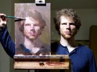 Nietypowa metoda malowania autoportretów
