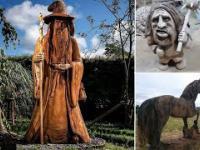 Rzeźbienie w Drewnie  Piłą Łańcuchową - Kompilacja