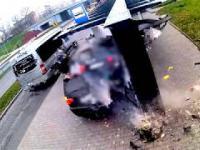 Pijany kierowca wjechał w przystanek w Kielcach
