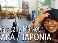 Świąteczny market w Osace w Japonii