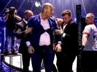 Artur Szpilka wbija na ring i atakuje Oświecińskiego po wygranej walce z Popkiem
