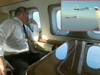 Reakcja Wladimira Putina na eskorte myśliwców.