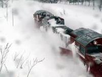 Pług śnieżny na szynach