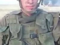 rosyjski żołnierz po spaleniu BTR-82