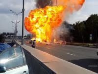 Rosja: Wypadek ciężarówki przewożącej butle z LPG