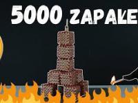 5000 ZAPAŁEK PODPALONYCH NA RAZ (WIEŻA EIFFLA) !!!
