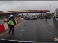 PIJANY kierowca TIRa spowodował WYPADEK na autostradzie A2