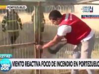 Facet próbuje uratować strażaków uwięzionych w miejscu wybuchu pożaru