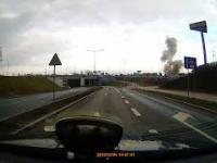 Eksplozja gazu w Bydgoszczy. Kierowca nagrał moment wybuchu